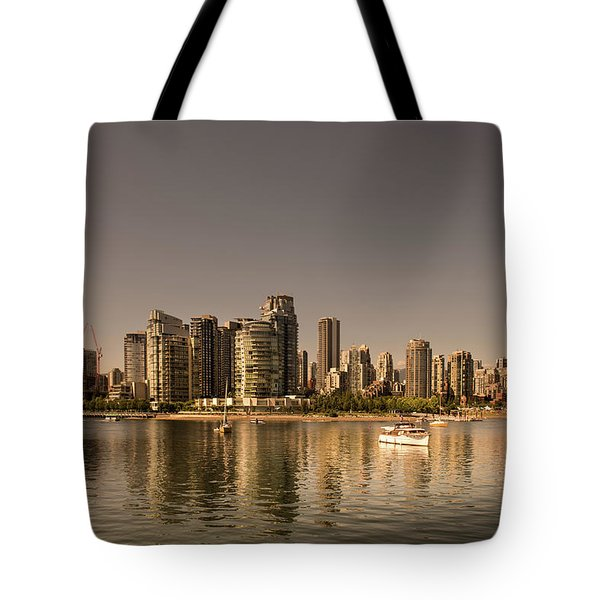 Vancouver Golden Light Hour Tote Bag