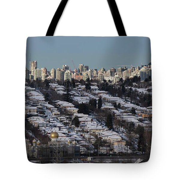 Tote Bag featuring the photograph Vancouver In Winter No. 1 by Juan Contreras