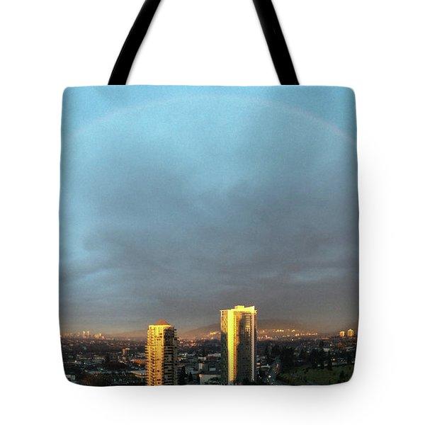 Vancouver Rainbow Tote Bag