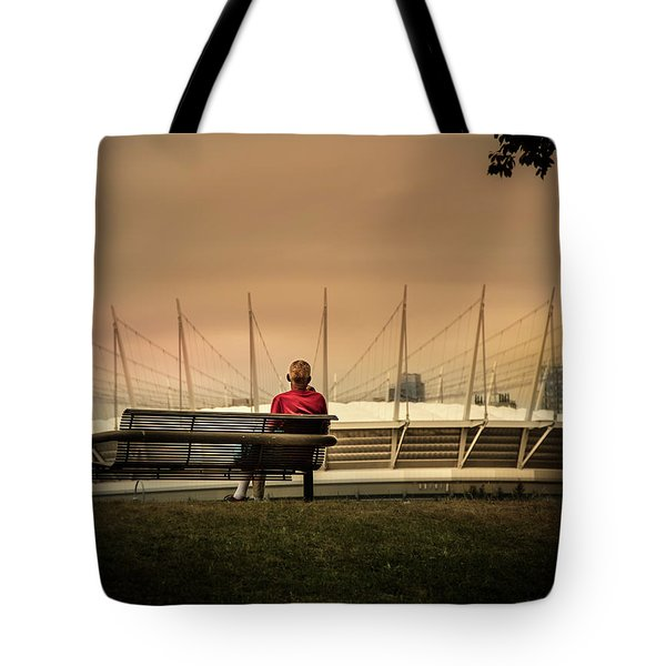 Vancouver Stadium In A Golden Hour Tote Bag