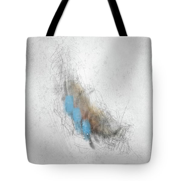 Tote Bag featuring the digital art Vanilla Pelt by Rick Baldwin