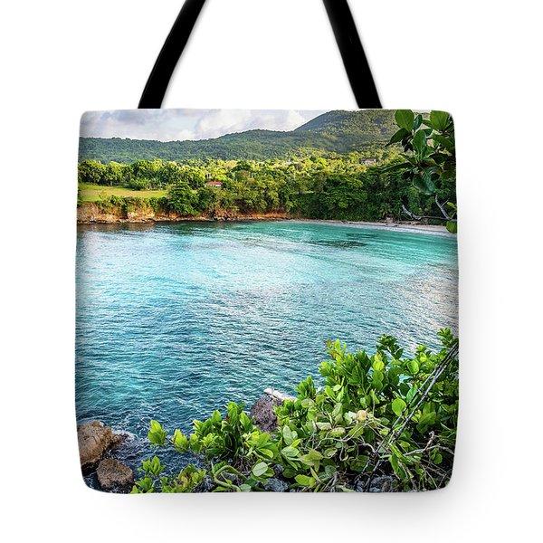 Vantage Views In Portland Jamaica Tote Bag