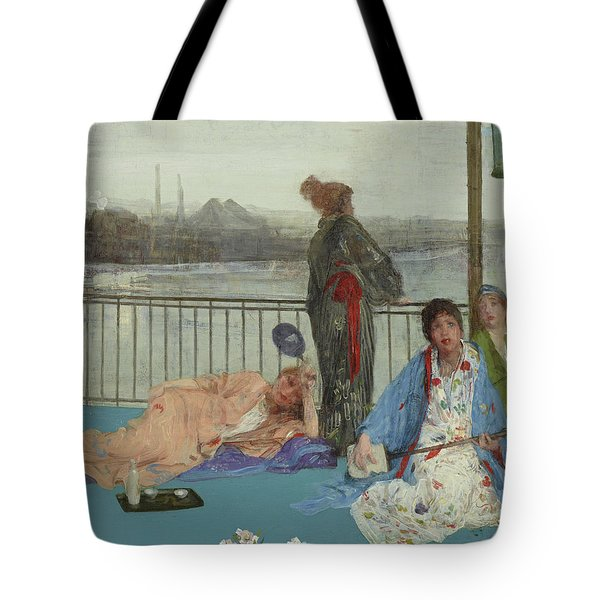 Variations In Flesh Color And Green, The Balcony Tote Bag