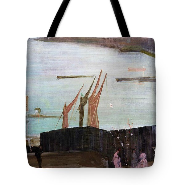 Variations In Pink And Grey, Chelsea - Digital Remastered Edition Tote Bag