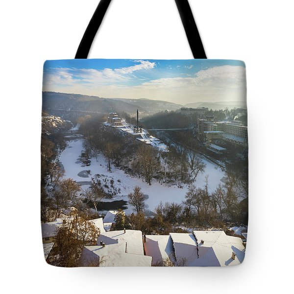Tote Bag featuring the photograph Veliko Turnovo City by Milan Ljubisavljevic