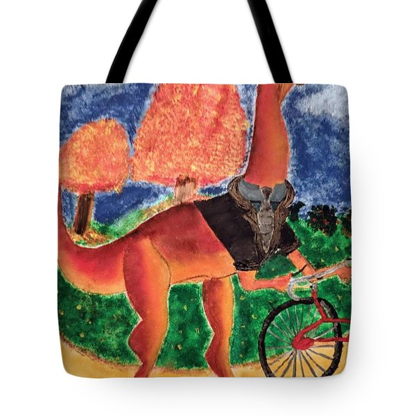 Veloci-saurus Tote Bag