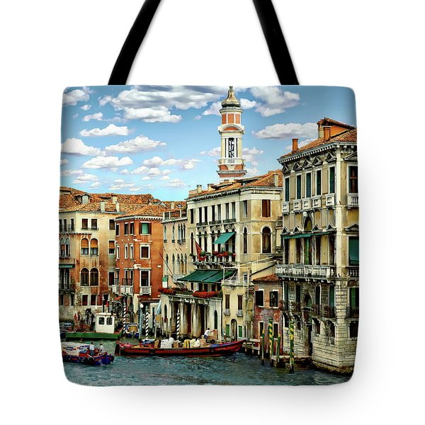 Tote Bag featuring the photograph Venice Canal by Anthony Dezenzio