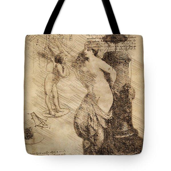 Venus Weigh Cupid Tote Bag
