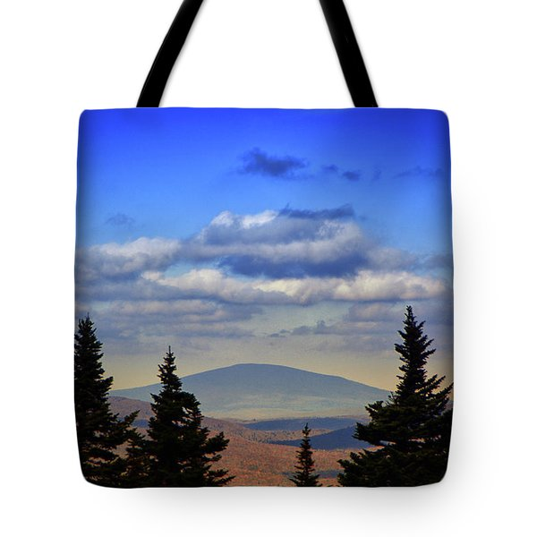 Tote Bag featuring the photograph Vermont From Mount Greylock Summit by Raymond Salani III