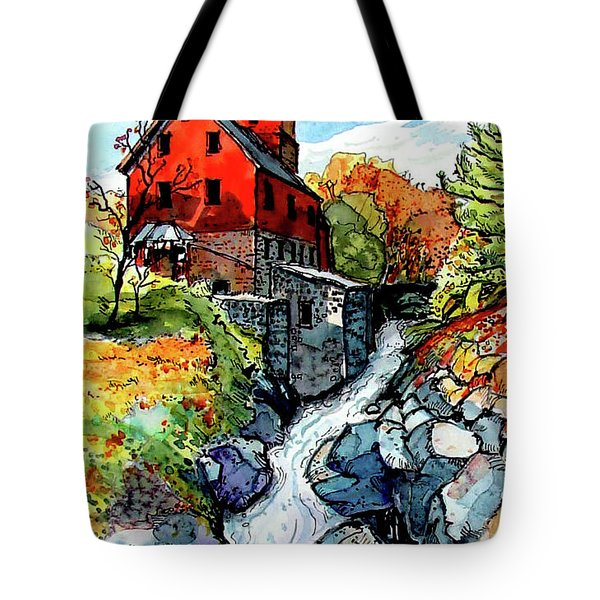 Vermont Red Tote Bag