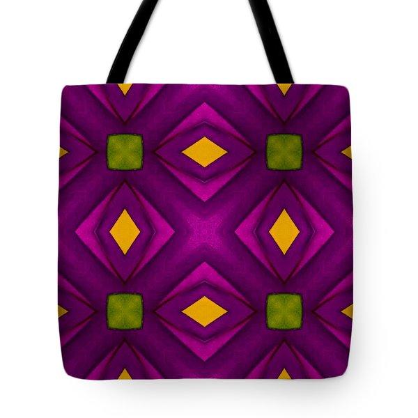 Vibrant Geometric Design Tote Bag