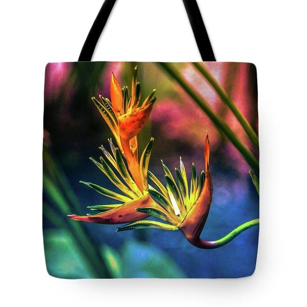 Vibrant Jungle Bird Tote Bag