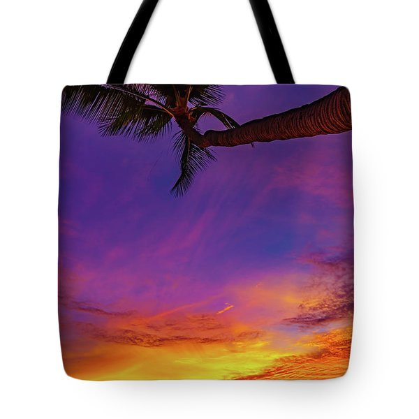 Vibrant Kona Inn Sunset Tote Bag