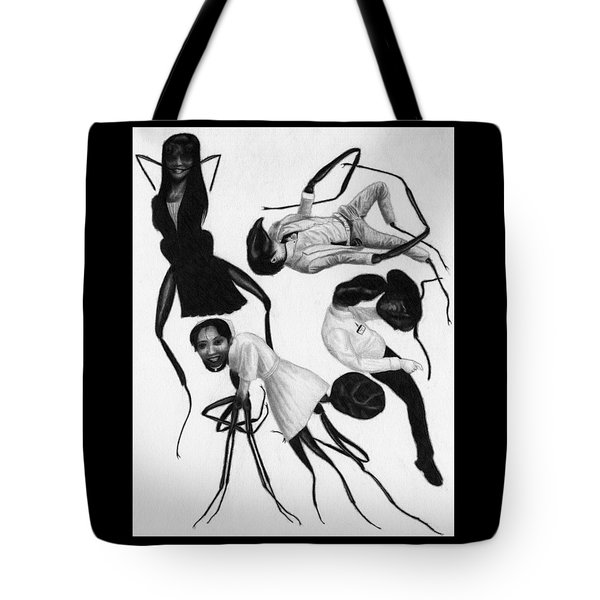 Tote Bag featuring the drawing Victims Of Karoshi - Artwork by Ryan Nieves