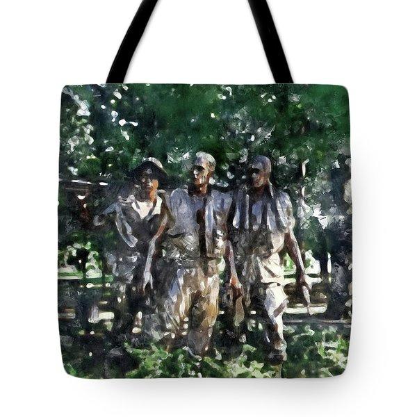 Vietnam Veteran Memorial Tote Bag