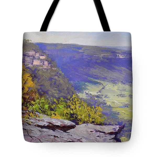 View From Hassons Wall Lithgow Tote Bag