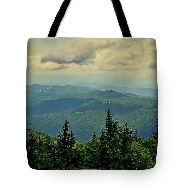 Tote Bag featuring the photograph View From Mount Mitchell by Meta Gatschenberger
