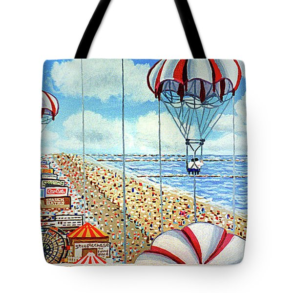 View From Parachute Jump Towel Version Tote Bag