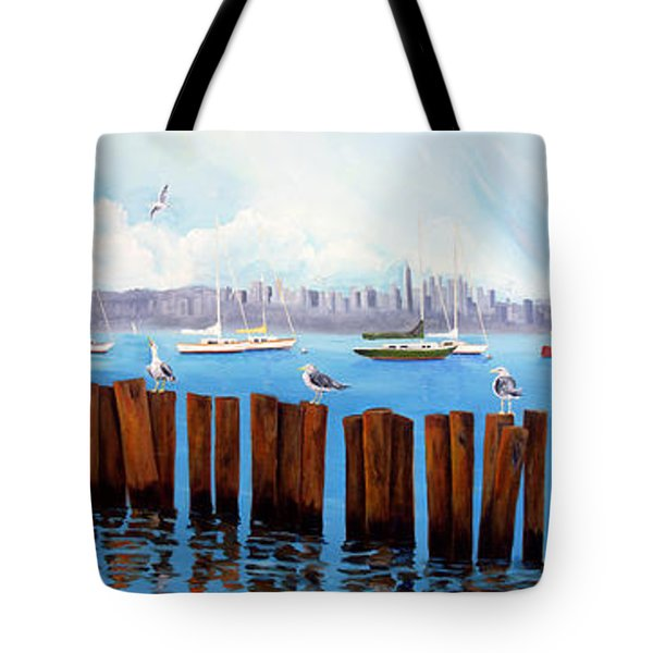 View From The Moshier's Tiki Bar Tote Bag
