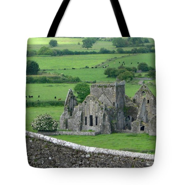 Tote Bag featuring the photograph View From The Rock by PJ Boylan