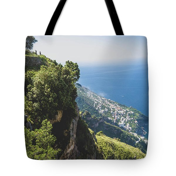 View Of Amalfi Italy From Path Of The Gods Tote Bag