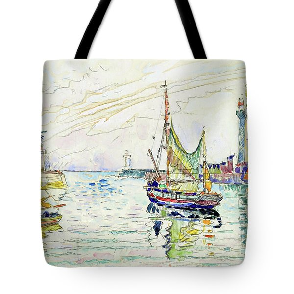 View Of Les Sables D'olonne - Digital Remastered Edition Tote Bag