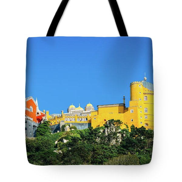 View Of Pena National Palace, Sintra, Portugal, Europe Tote Bag