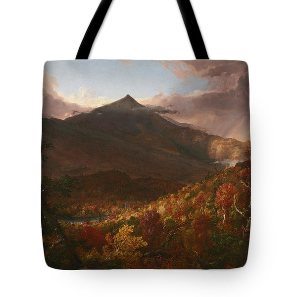 View Of Schroon Mountain, Essex County, New York, After A Storm, 1838 Tote Bag