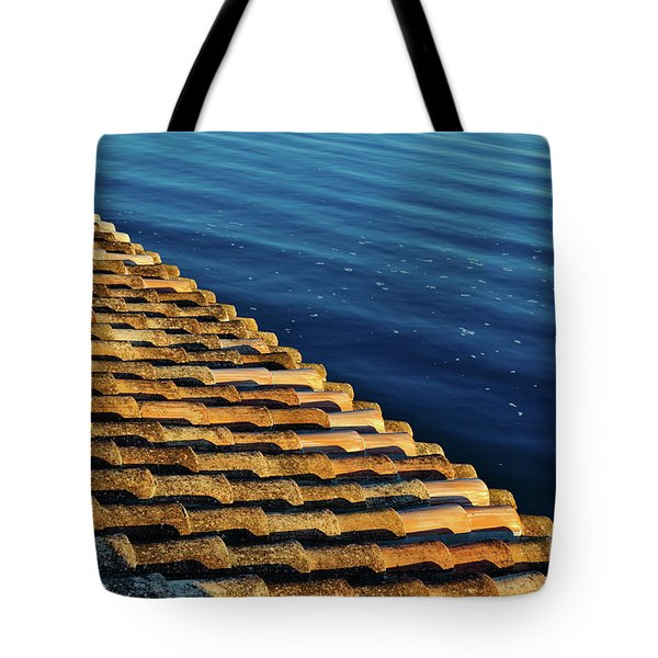 View Of The River From The Rooftop. Algarve Tote Bag