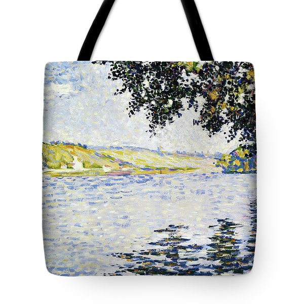 View Of The Seine At Herblay - Digital Remastered Edition Tote Bag