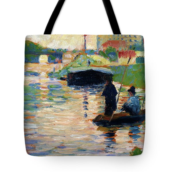 View Of The Seine - Digital Remastered Edition Tote Bag