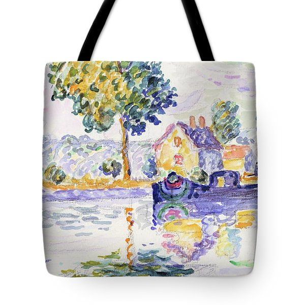 View Of The Seine, Samois - Digital Remastered Edition Tote Bag