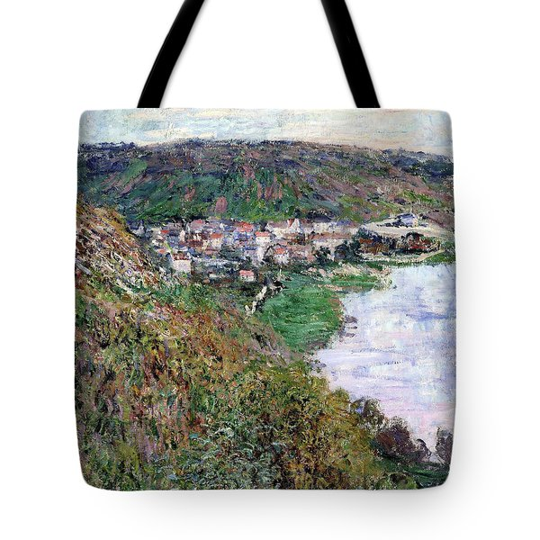 View Of Vetheuil - Digital Remastered Edition Tote Bag