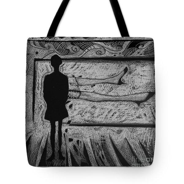 Viewing Supine Woman. Tote Bag