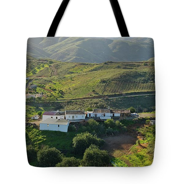 Village Hidden In The Mountains Tote Bag