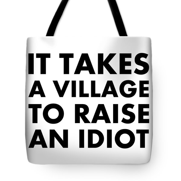 Village Idiot Bk Tote Bag