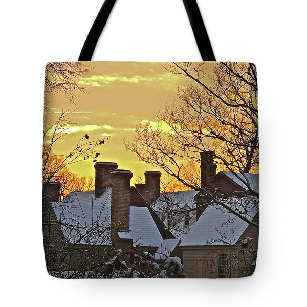 Tote Bag featuring the photograph Village Morning by Don Moore
