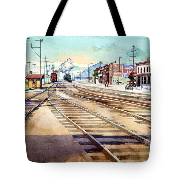 Vintage Color Columbia Rail Yards Tote Bag