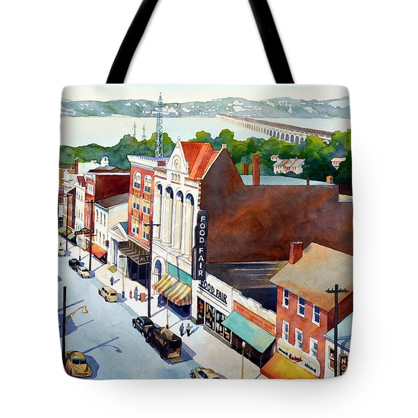 Vintage Color, Columbia Rooftops Tote Bag