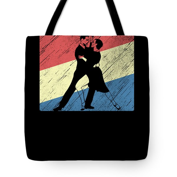 Vintage Dancing Dancers Waltz Breakdance Jazz Hiphop Ballet Music Gift Tote Bag
