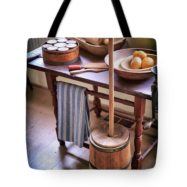 Vintage Farmhouse Butter Churn Tote Bag