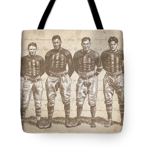 Vintage Football Heroes Tote Bag