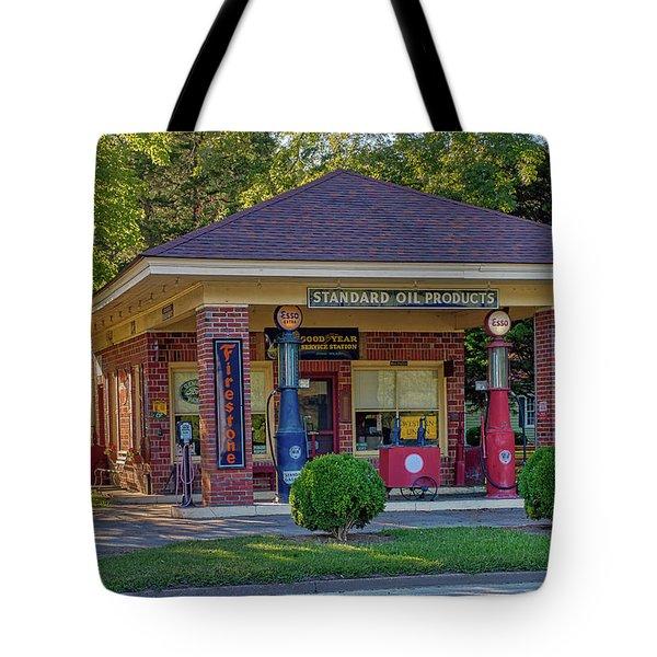 Vintage Gas Station Tote Bag