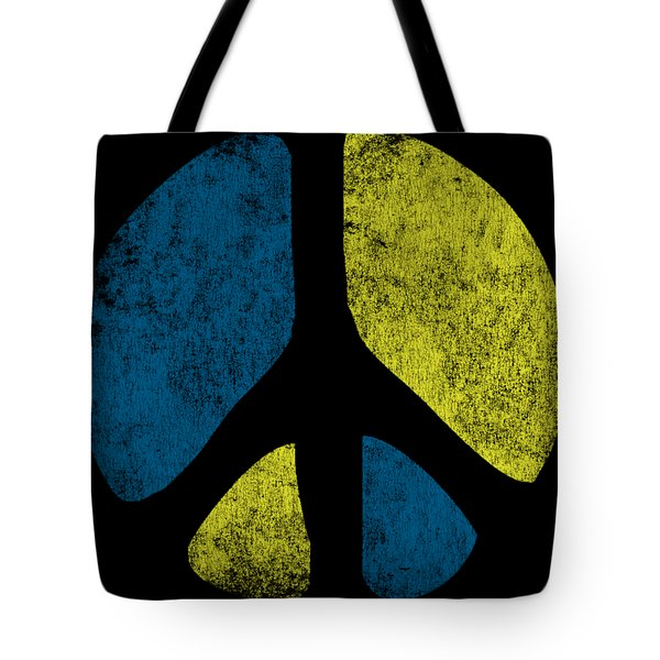 Vintage Peace Sign Tote Bag
