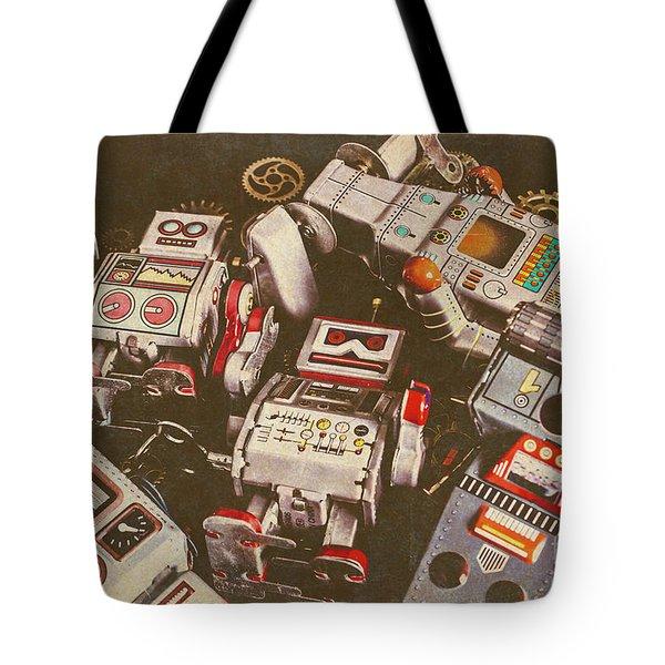 Vintage Robotronics Tote Bag