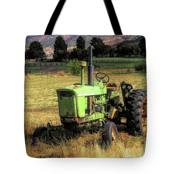 Vintage Tractor In Honeyville Tote Bag