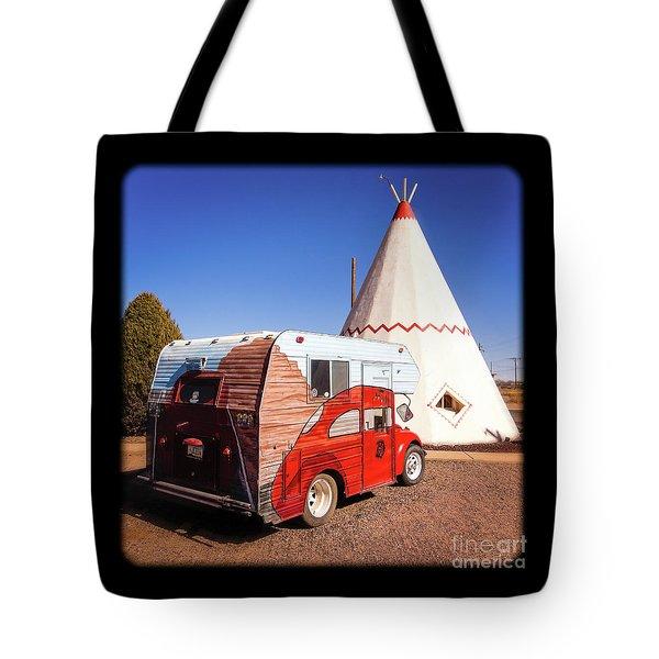 Vintage Volkswagon Beatle Camper  Tote Bag