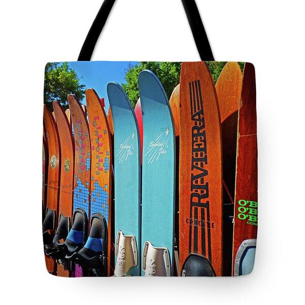 Vintage Water Skis Tote Bag