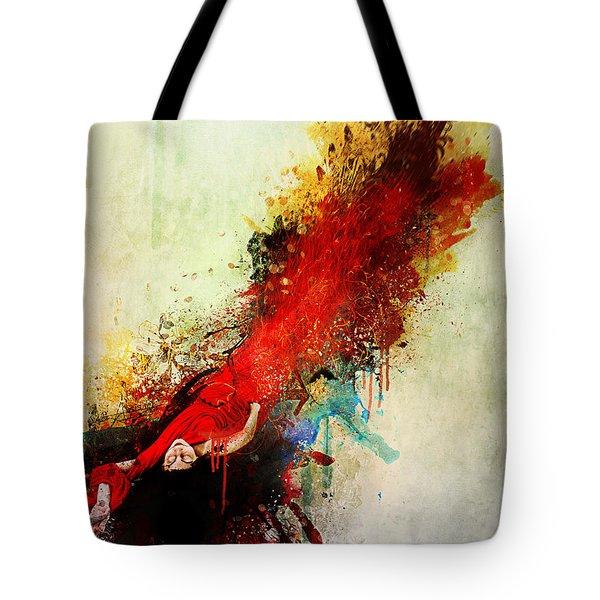 Violently Happy Tote Bag