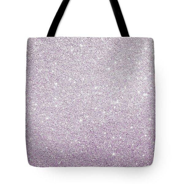 Violet Glitter Tote Bag